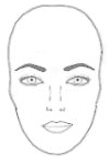 eyebrows for oval face shape
